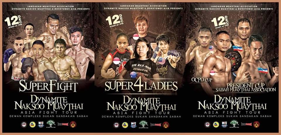 Affiche du Dynamite Naksoo Asia Fight Tour