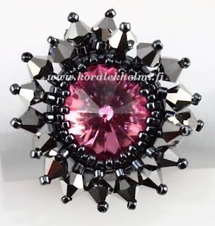 Kristalli lasihelmet, sormus - korutarvikkeet - helmikauppa netissä