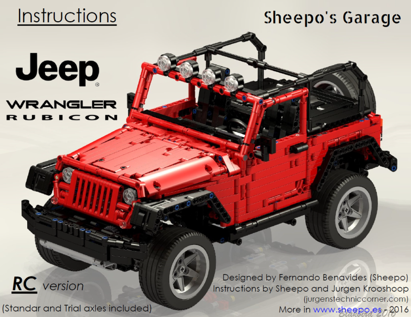 Sheepos Garage Jeep Wrangler Rubicon Instructions