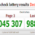 Thai Lottery Today Result For 01-12-2018