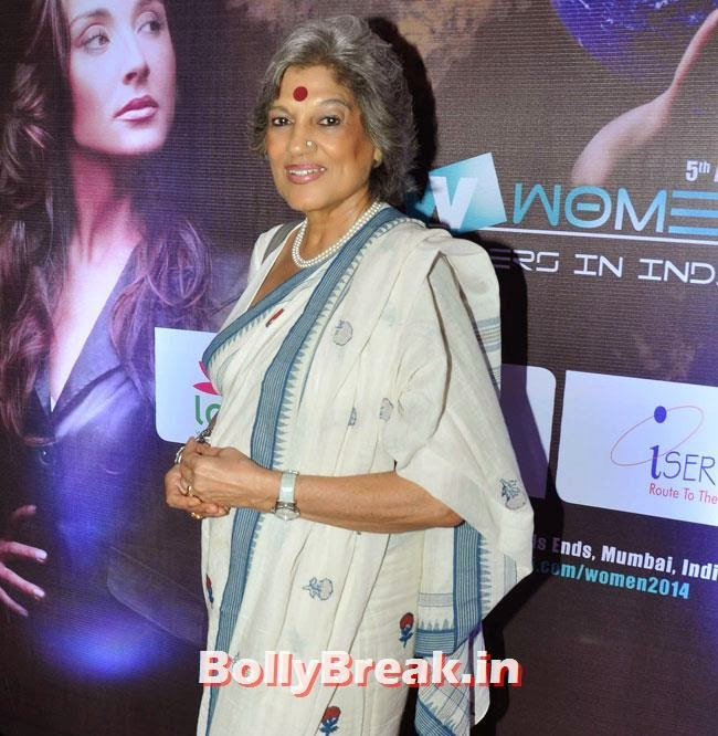 Dolly Thakore, Vishakha Singh in White Dress at Women Leaders In India Summit
