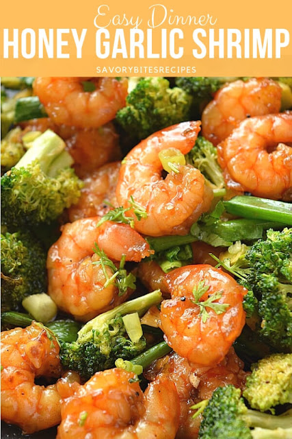 A close up of Honey Garlic Shrimp