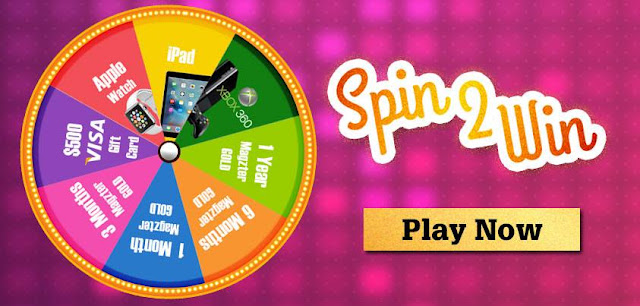 Spin the wheel to win real prizes