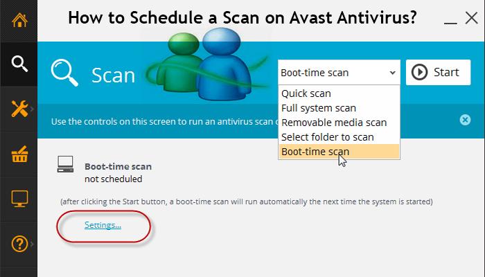 avast antivirus quick scan