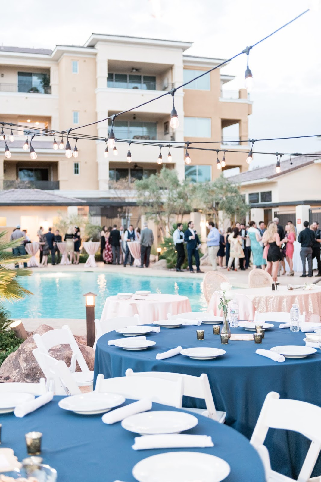 Poolside Las Vegas Wedding Reception