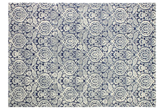Elena Blue Rug from JCPenny | 20 Classic Style Rugs for Any Budget at www.andersonandgrant.com
