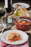 Lomos de conejo con pimientos al Jerez