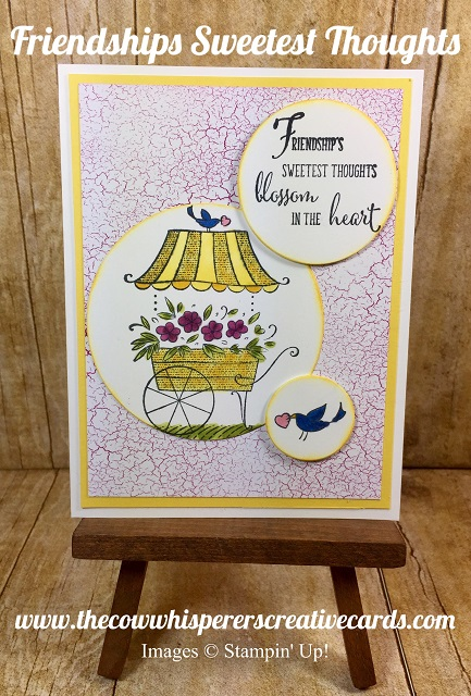 Card, Friendships Sweetest Thoughts, Stampin Blends Alcohol Markers