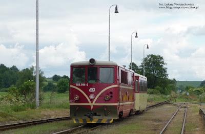 Osoblažka. Lokomotywa 705.914-0 wjeżdża na stację Osoblaha