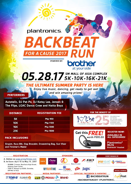 Tons of prizes and surprises await in the Backbeat Run for a Cause 2017