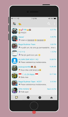 BBM MOD Delta Light Theme V3.0.0.18