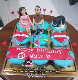 Cupcake Ulang Tahun Romantis