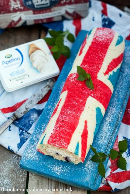 Rolada flaga Wielkiej Brytanii z miętowym kremem