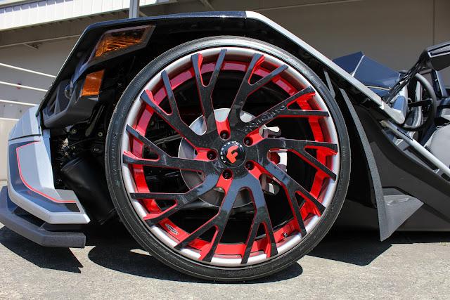 Polaris Slingshot on Forgiato Wheels - #Polaris #Slingshot #Forgiato #Wheels #tuning
