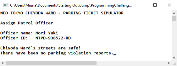 My C++ Playground: Programming Challenge 14 14 - Parking