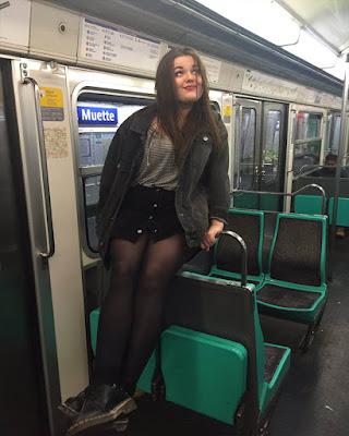 fotos tumblr en el metro para imitar