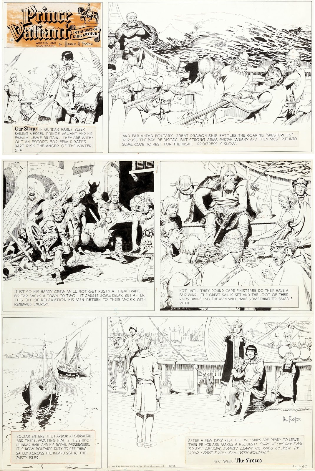 PRINCE VALIANT by Hal Foster Vol.1-10 Hardcover Books Published by Fantagraphics