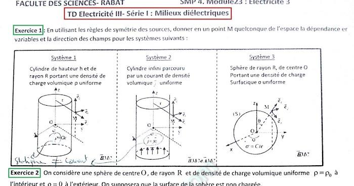 TD et Exercices Corrigés Electricité 3 SMP Semestre S4 PDF