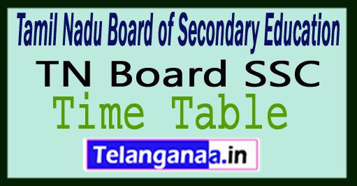 TN SSLC Time Table