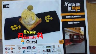 Huevito ruso, la tapa de Mesón Alhambra Puzol para la 8ª Ruta de la tapa vila de Puçol 2018