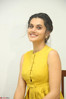Taapsee Pannu looks mesmerizing in Yellow for her Telugu Movie Anando hma motion poster launch ~  Exclusive 011.JPG