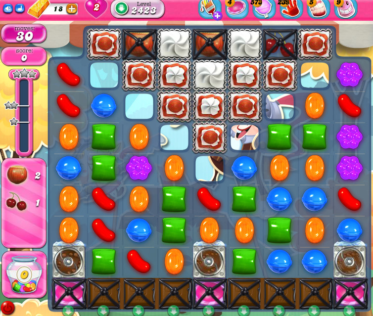 Candy Crush Saga level 2423