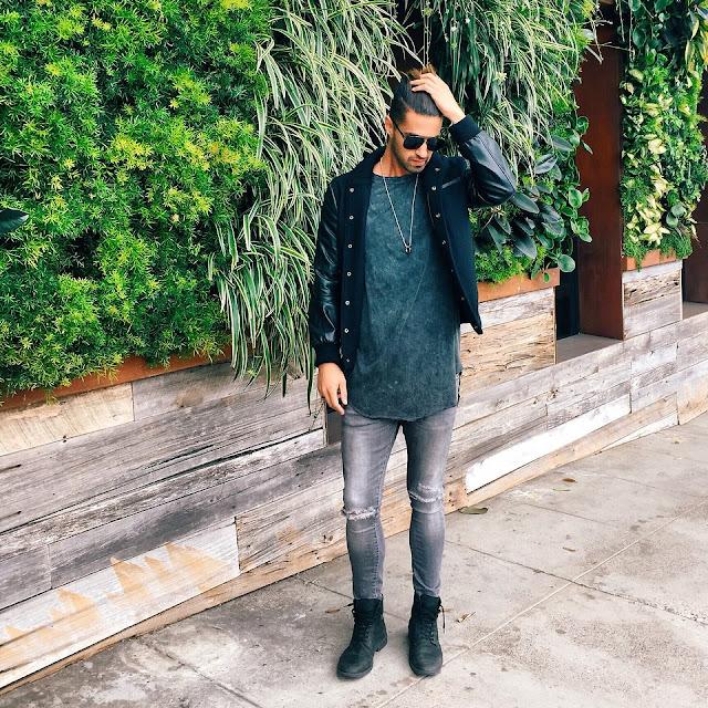 Como usar camiseta LongLine T-Shirt e Oversized Tee, Como Usar  jaqueta masculina, moda masculina, lookmasculino