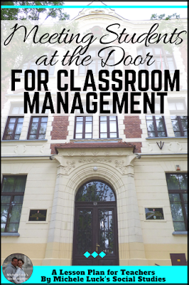 Great ideas for teachers on meeting students at the door and back to school activities to help with classroom management and building a positive classroom climate. #teaching