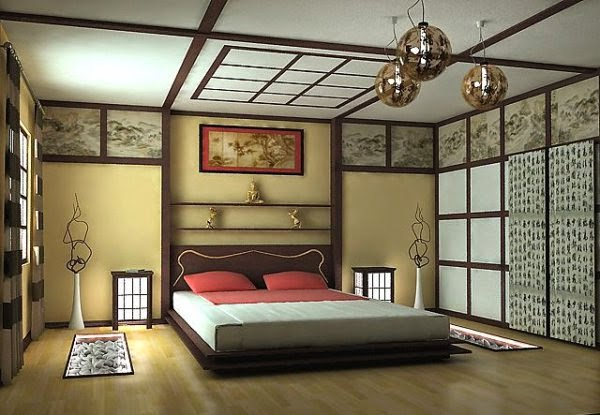 25 bedroom designs in Japanese style : lighting, colors