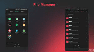 File Manager Tema Xiaomi Tembus RedMix Light MIUI 8/9