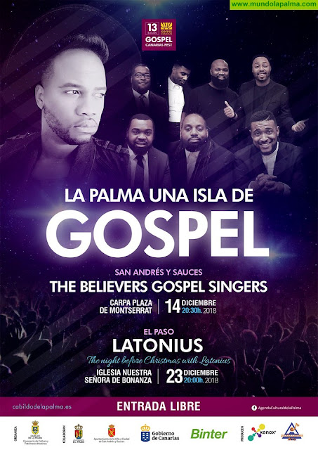 La Palma acoge dos conciertos de góspel, con los norteamericanos The Believers Gospel Singers y Latonius
