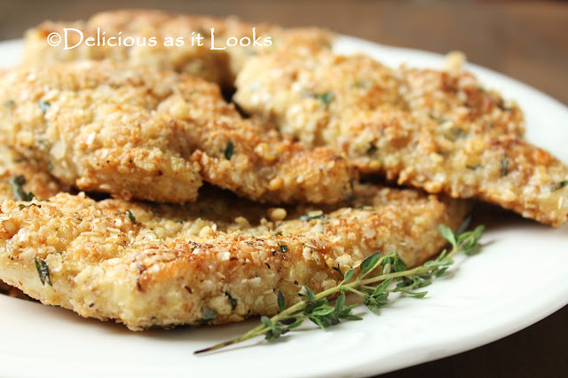 Low-FODMAP Quinoa Flake & Walnut Crusted Chicken  /  Delicious as it Looks