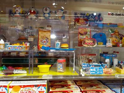 Doraemon Merchandises at Kiddy Land Harajuku