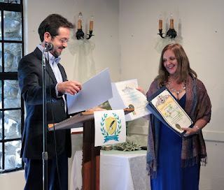 Maja Trochimczyk, 6th Poet Laureate of Sunland-Tujunga with Joe DeCenzo and resolutions