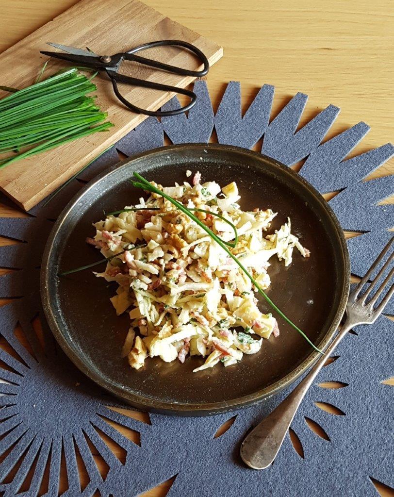 Salade Savoyarde Au Chou Blanc Lardons Et Beaufort Terroir