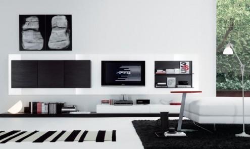 Modernos y lujosos muebles para tv para el living room o for Modelos de muebles modernos para living