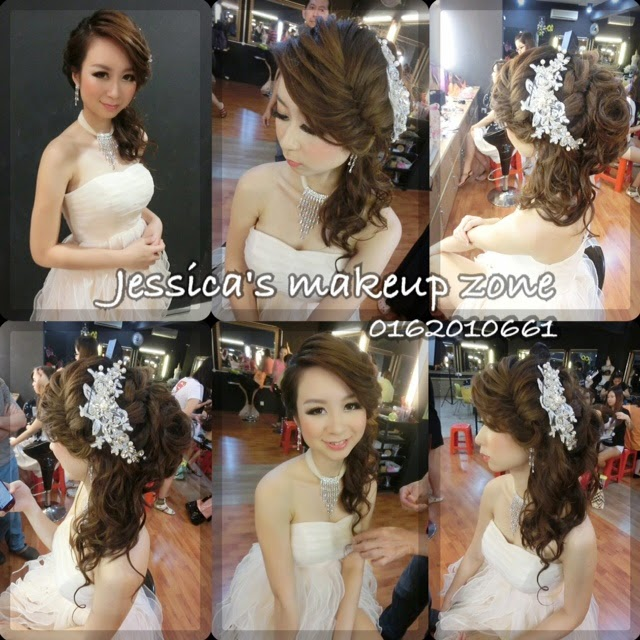crown braid and long hair piece