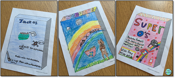 Design a cereal box media literacy project