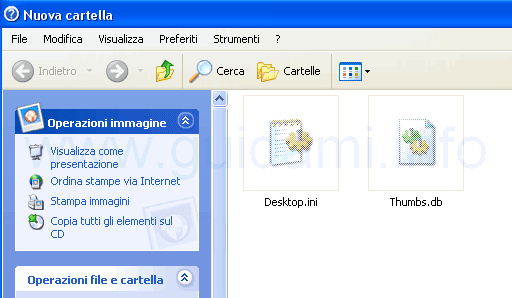 File Desktopini e Thumbsdb