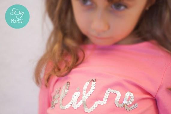 Camisetas decoradas con lentejuelas