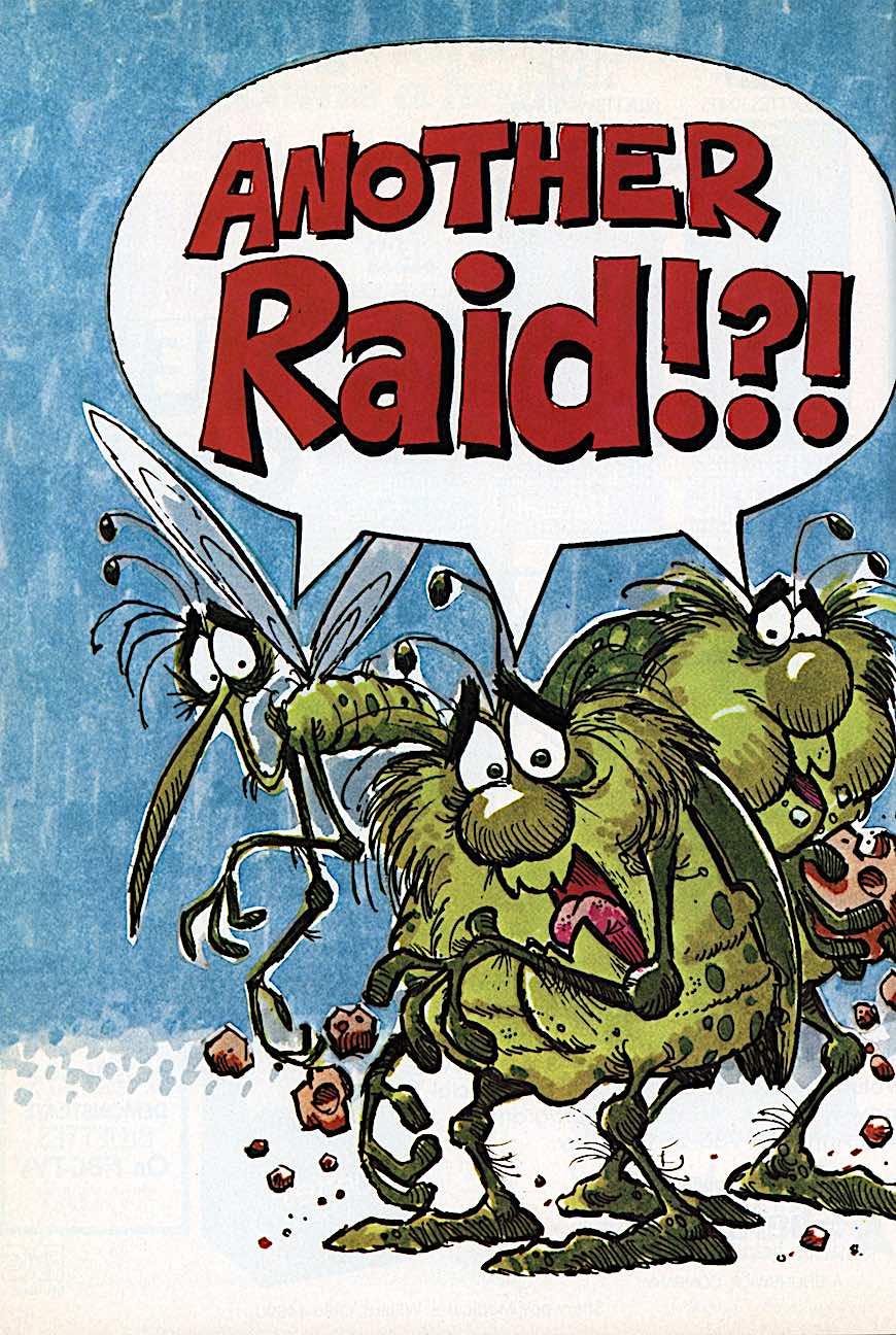A Paul Coker advertising illustration for RAID poison