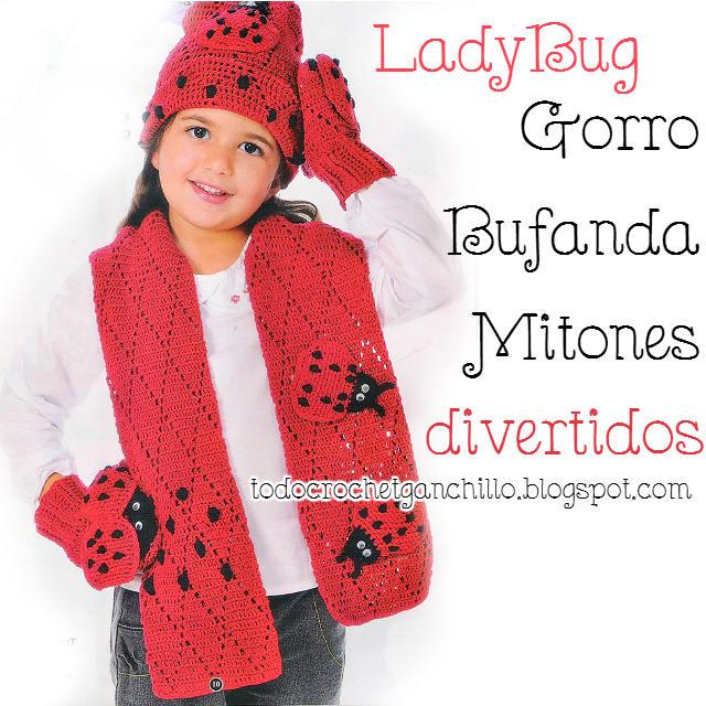 Gorro, bufanda y mitones crochet para niños / Paso a paso | Todo crochet