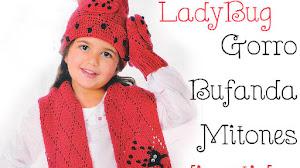 Gorro, bufanda y mitones crochet para niños / Paso a paso