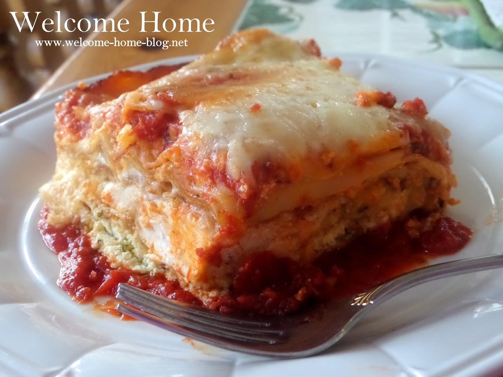 Welcome Home Blog Chicken Parm Lasagna