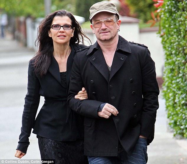 Resultado de imagem para bono vox e sua esposa