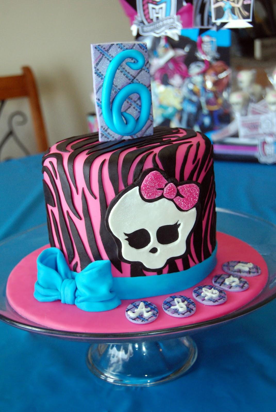 Custom Cakes By Stef Monster High Zebra Cake