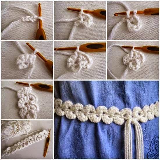 Banda o Cinturon de crochet tutorial