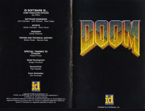 DOOM 1993 manual - cover