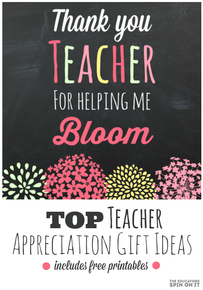 the educators' spin on it teacher gift idea and printable