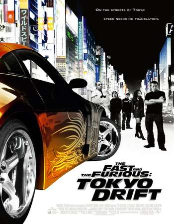 Poster Of The Fast and the Furious Tokyo Drift 2006 Dual Audio 450MB BRRip 720p HEVC Free Download Watch Online downloadhub.in